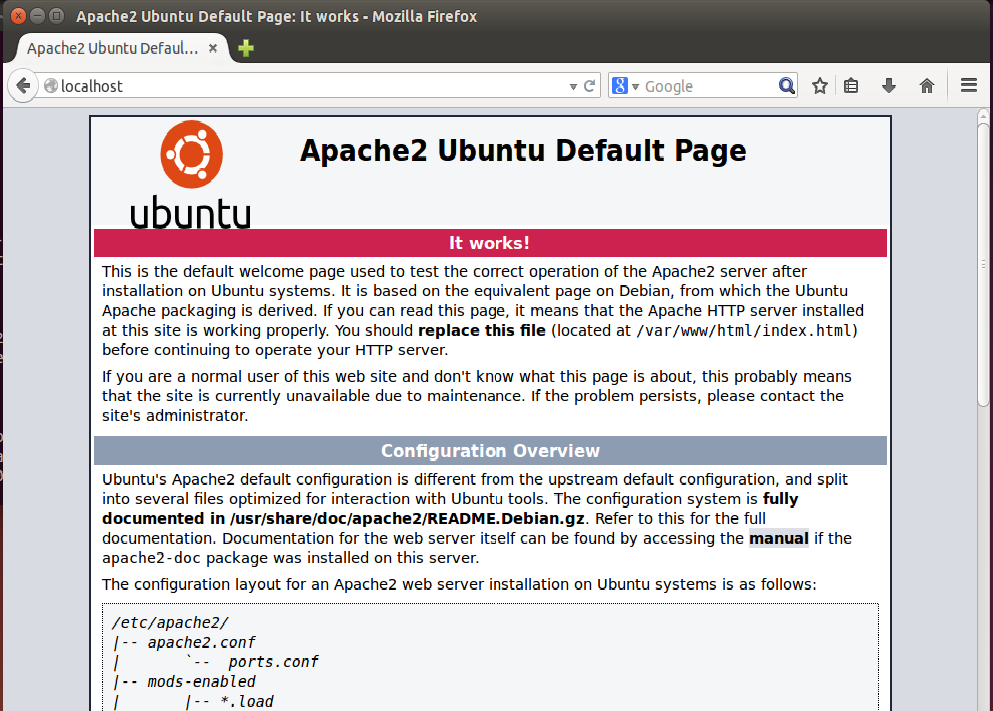 How to install and configure apache webserver to host a website.